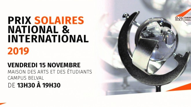 Invitation cérémonie PRIX SOLAIRES NATIONAL & INTERNATIONAL 2019 foto